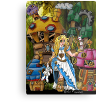Alice in Wonderland - Steampunk style Metal Print