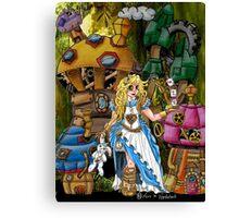 Alice in Wonderland - Steampunk style Canvas Print