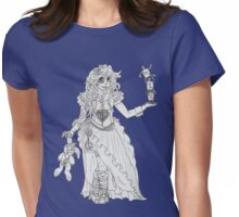 Alice in Wonderland - Black and White Womens Fitted T-Shirt