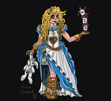 Alice in Wonderland - Steampunk style Womens Fitted T-Shirt