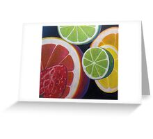 Sweet and Juicy Fruit Collage Greeting Card