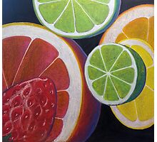Sweet and Juicy Fruit Collage Photographic Print