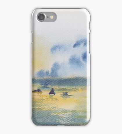 Silhouette surfers. iPhone Case/Skin