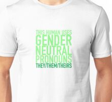 They/Them/Theirs Pronouns Unisex T-Shirt