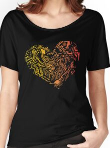 Geometric Heart_Colourful Women's Relaxed Fit T-Shirt