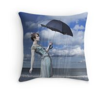 Why does it always rain on me (again) Throw Pillow
