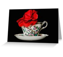 Camellia in Tea Cup Greeting Card