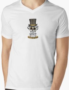 Cute Steampunk Dalmatian Puppy Dog Mens V-Neck T-Shirt