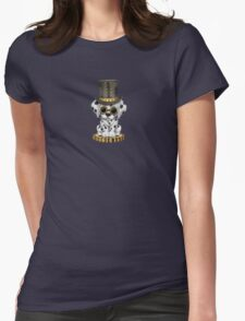 Cute Steampunk Dalmatian Puppy Dog Womens Fitted T-Shirt