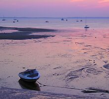 Boat at Low Tide in Provincetown by peterrobinsonjr