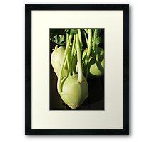KOHLRABI Framed Print