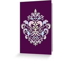 Pastel Damask Pattern Greeting Card