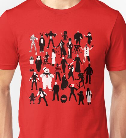 Horror Characters  Unisex T-Shirt