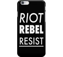 Cardinal Rules iPhone Cover Black iPhone Case/Skin