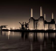 Battersea Power Station Black and gold by Dean Messenger