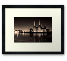 Battersea Power Station Black and gold Framed Print