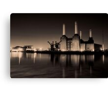 Battersea Power Station Black and gold Canvas Print