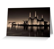 Battersea Power Station Black and gold Greeting Card