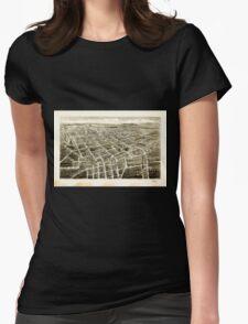 Panoramic Maps Bird's-eye-view of Statesville North Carolina T-Shirt