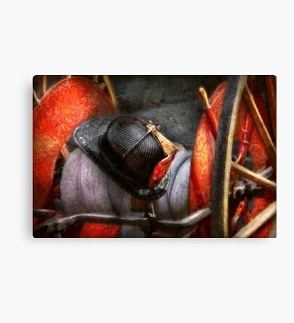 Fireman - Hat - South Plainfield Fire Dept Canvas Print