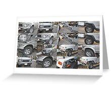 """ Toyota Tundra vs. Jeep "" Greeting Card"