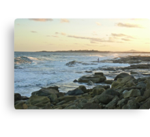 Rock Fishing: The Bluff, Iluka, NSW Canvas Print