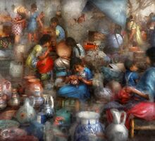 Store - The busy marketpalce by Mike  Savad