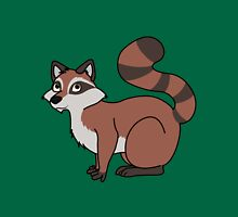 Red Raccoon with Striped Tail Unisex T-Shirt