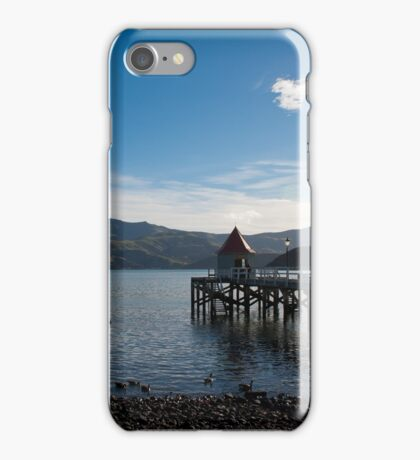 Jetty in Akaroa Harbour iPhone Case/Skin