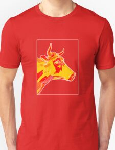 Cow Yellow Red B T-Shirt