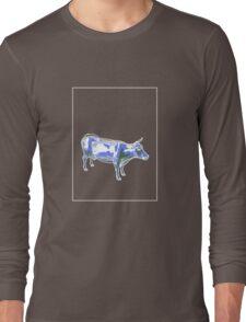 Cow Green Blue D Long Sleeve T-Shirt