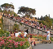 steps of piazzale Michaelangelo by Anne Scantlebury