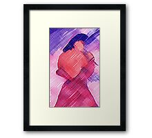 Getting dressed, watercolor WC pencil,watercolor Framed Print