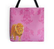 Wallpaper Lion Pink Tote Bag