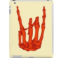Orange Rock On Skeleton Hand iPad Case/Skin