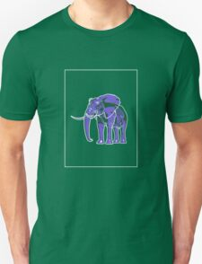 Elephant Mauve Green E T-Shirt