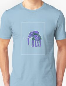 Elephant Mauve Green E Unisex T-Shirt