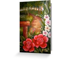 'In the garden' Greeting Card