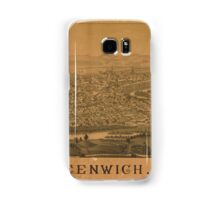 Panoramic Maps Greenwich NY Samsung Galaxy Case/Skin