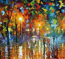 UNEXPECTED MEETING - LEONID AFREMOV by Leonid  Afremov