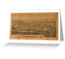 Panoramic Maps Greenwich NY Greeting Card