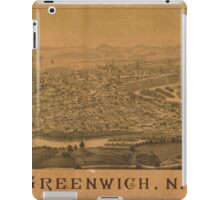 Panoramic Maps Greenwich NY iPad Case/Skin