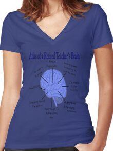 Funny Retired Teacher  Women's Fitted V-Neck T-Shirt