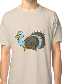 Thanksgiving Turkey with Light Blue Feathers Classic T-Shirt
