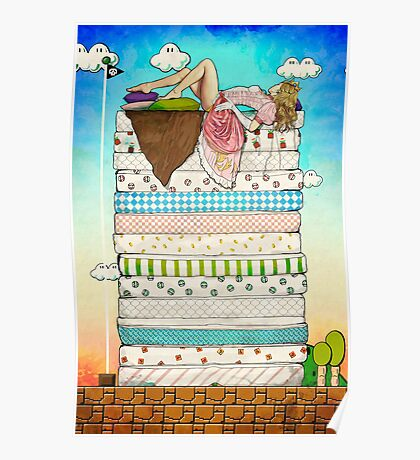 Princess Peach and the Pea Poster