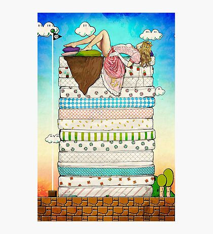 Princess Peach and the Pea Photographic Print