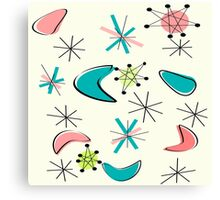 Mid Century Atomic Age Inspired Canvas Print