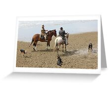 Drovers and dogs Greeting Card