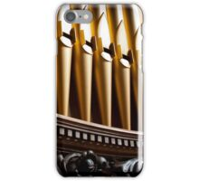 Golden organ pipes and wood iPhone Case/Skin