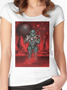 moonbot two Women's Fitted Scoop T-Shirt